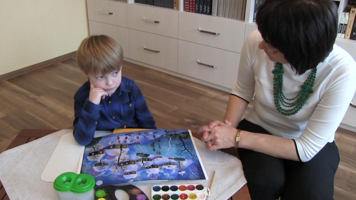 Світ у картинах художників. Розглядаємо картини й спілкуємося про дитячі розваги в різні пори року