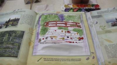 Світ у картинах художників.Розглядаємо картини і спілкуємося з дітьми про водойми.