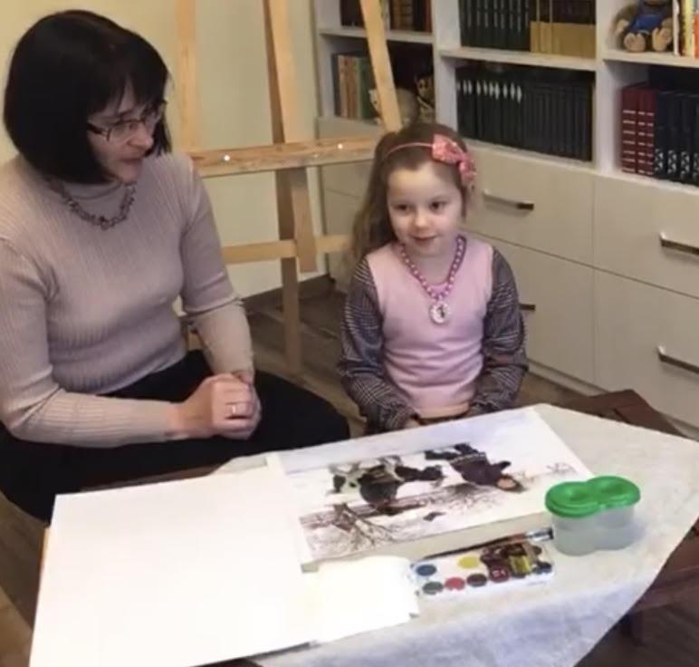 Світ у картинах художників. Розглядаємо картини про дітей і тварин