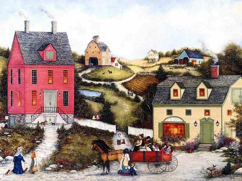Світ у картинах художників. Місто і село